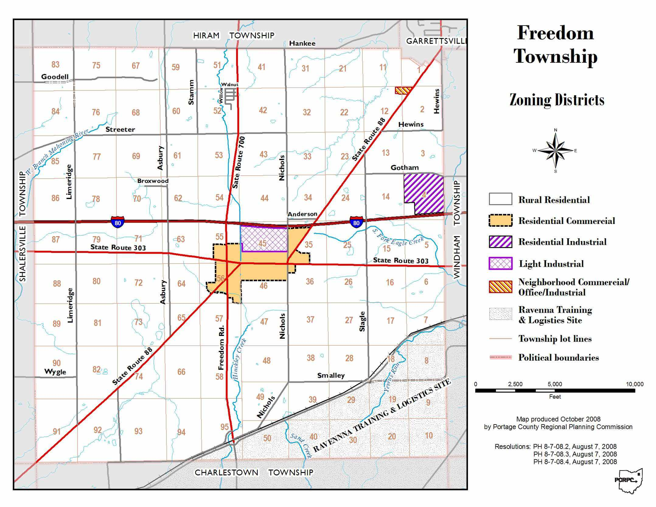 Zoning Map Freedom Township Portage County
